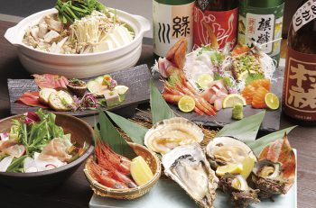 自慢の「海鮮焼」など、魚料理に自信あり