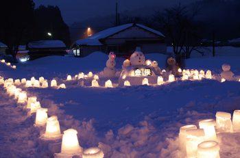 幻想的なあかりの イベントを関川村で開催