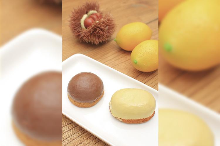 マロンケーキ(左) レモンケーキ(右) 各216円