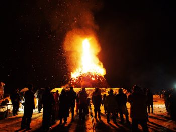 十日町市大白倉集落伝統の小正月行事
