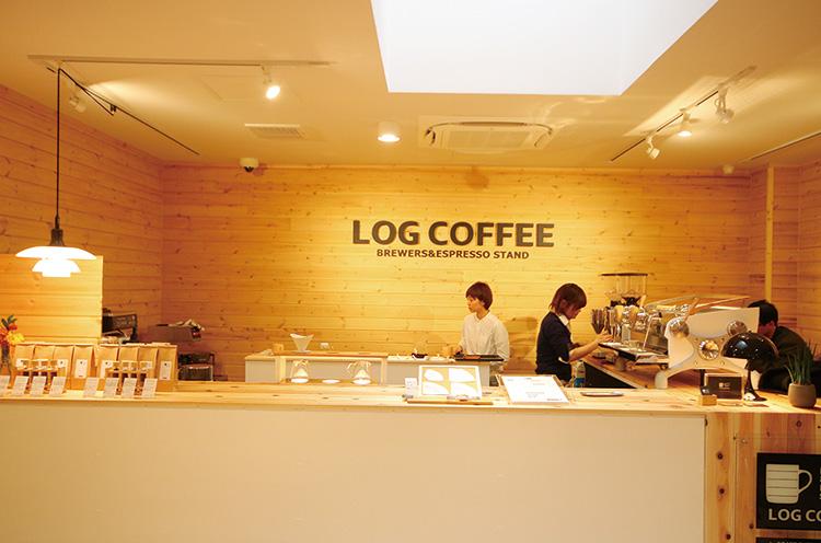 コーヒーショップ「LOG COFFEE」