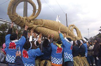 厄祓い、無病息災、五穀豊穣を祈るためのお祭りが聖籠町で開催