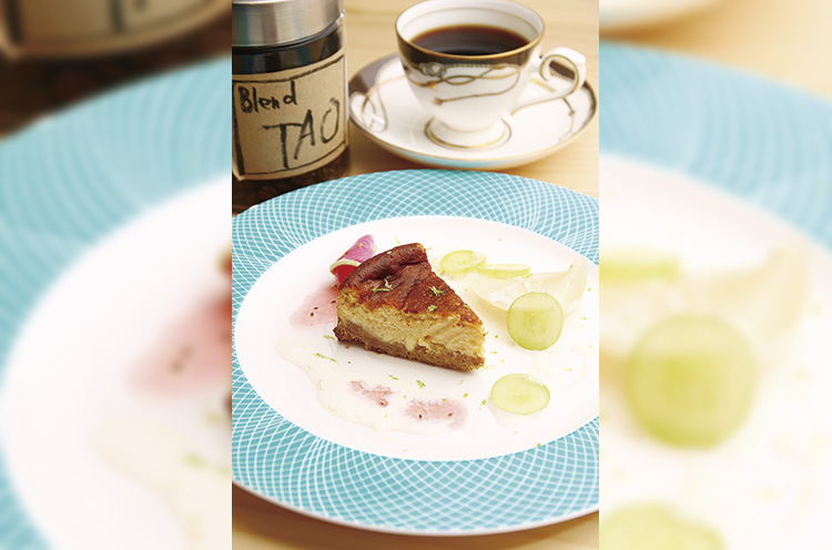 『ブルーチーズケーキ』と一緒に、息子さんの名前にちなんで名付けた『TAOコ ーヒー』(432円)も味わって