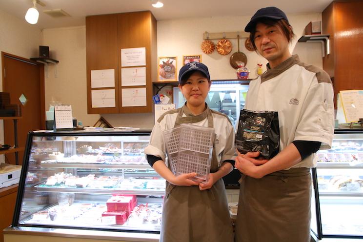 「みなさんのお越しお待ちしてます!」と大竹さん(右)と宮下さん(左)