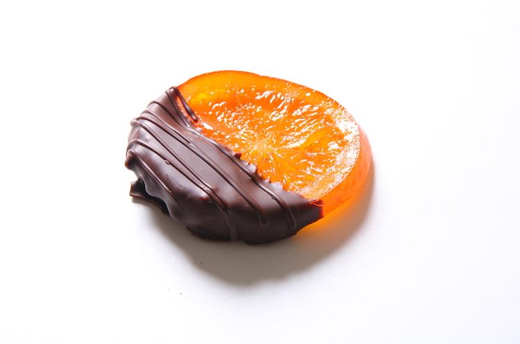 「ショコラオランジュ」(240円)。オレンジとチョコの間にナッツが挟まり新鮮な食感を表現