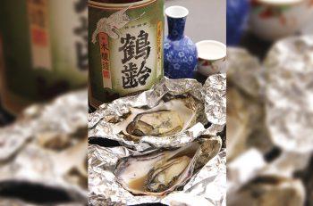 ふっくら焼きガキ×淡麗辛口の日本酒の相性は最高!