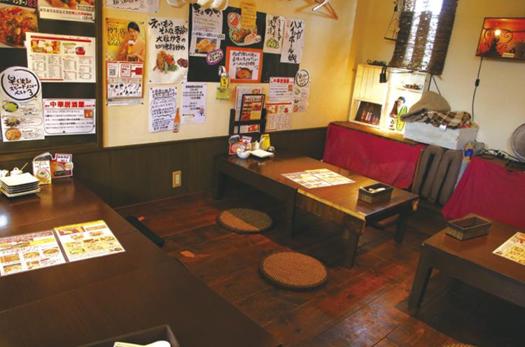 本格中華のお店ながら、店内は居酒屋のように居心地のいい雰囲気