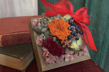 二人の出会いに花を添える、ドライフラワーBOX作りで婚活イベント