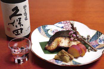 蔵元ならではの漬魚を香り豊かな大吟醸と味わって