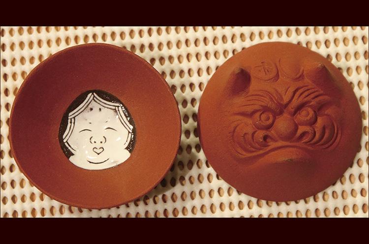 佐渡の無名異焼きで作られた『鬼面杯』(1個 1,524円)