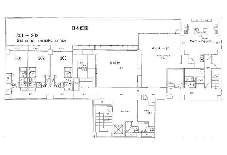 3階のフロア図です