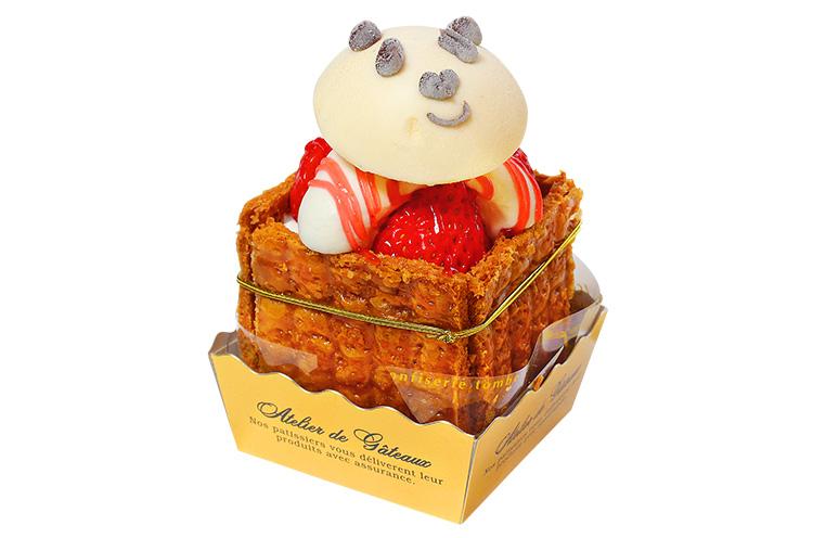 【長岡市】お菓子工房ルクレールの『苺のミルフィーユキューブ』