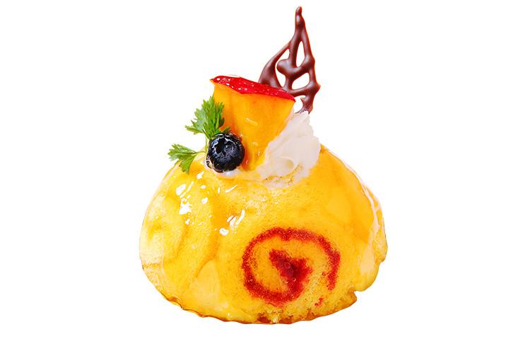 【新潟市秋葉区】スイーニュの『国産レモンのロールケーキ 宮崎マンゴー添え』