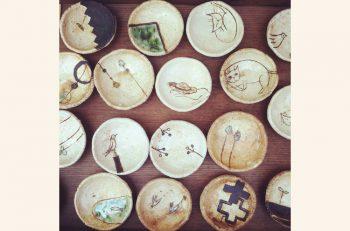 新発田市在住の陶芸家が作る陶芸作品の数々