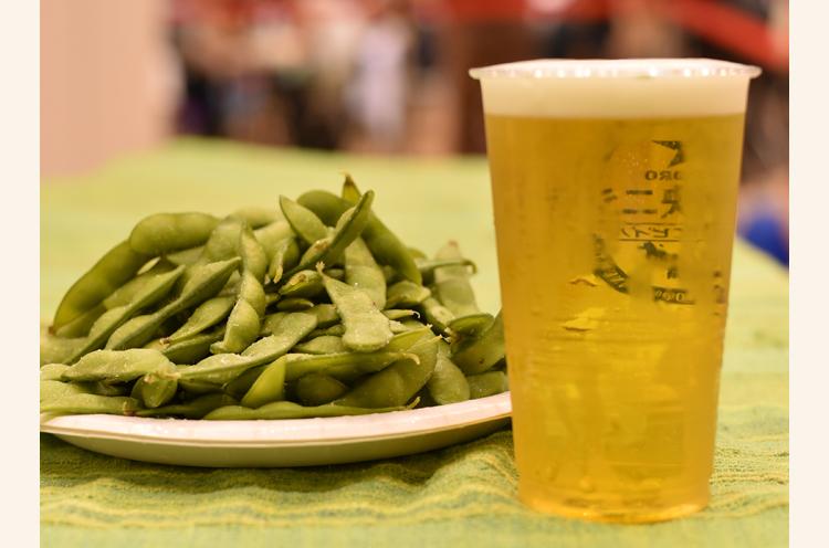 枝豆にはやっぱりビールですよね〜!!