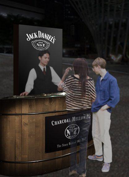 専門スタッフによる有料試飲(500円)を含むミニセミナー「TALK & TASTE」。定員は1回約5名。「ジャック ダニエル」ブランドの歴史や製法などの紹介や、「ジャック ダニエル」ブランド商品の飲み比べが体験できる。