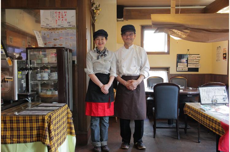 料理はご主人、接客は奥様が担当。おふたりの温かい人柄もあって、おいしい料理とともに楽しい時間を過ごせるはず