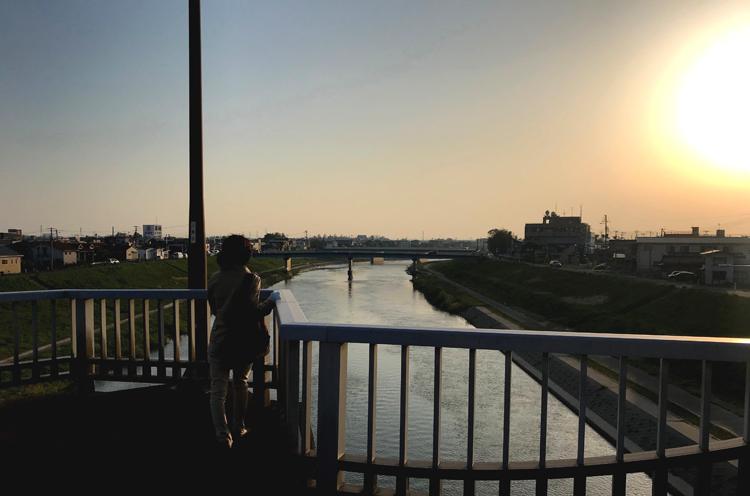 昭栄大橋の上から撮影