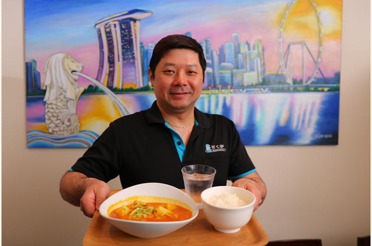 笑顔が素敵なシンガポール人シェフのリーさん
