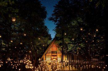 【新潟から近県旅行】軽井沢高原教会がランタンのあたたかな光に包まれます