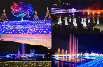 今年のテーマは「越後の夏まつり」。夜の公園がイルミネーションで賑やかなお祭り会場になります!