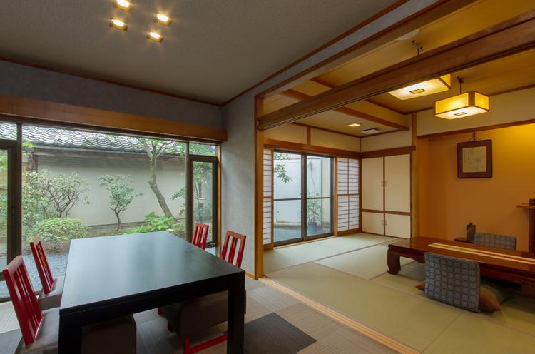昨年リニューアルした客室「なないろ」。プラ ス4,000円+税で宿泊可能