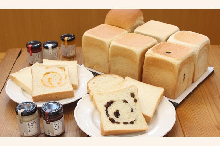 今夏新登場した食パン。お米のピューレを配合