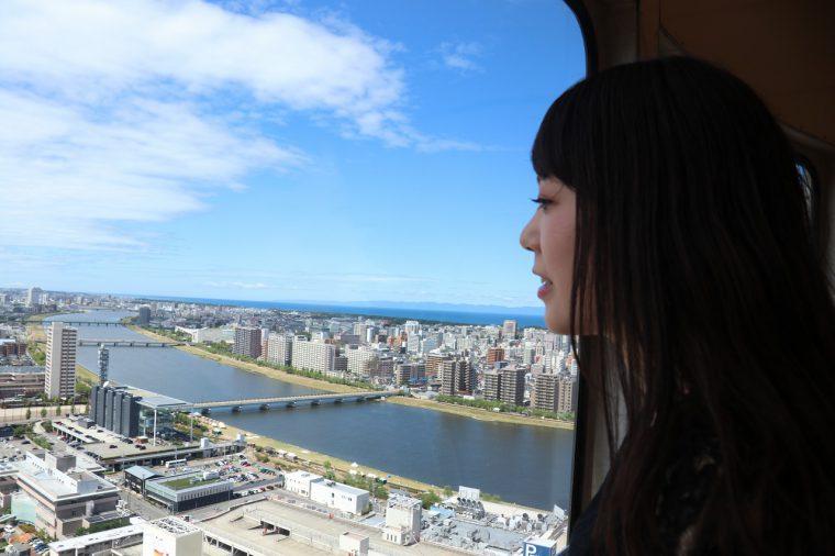 信濃川は広いなー! 新潟市ってカッコいいなー