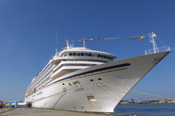 豪華客船「飛鳥Ⅱ」が新潟港に寄港します。当日はなんと岸壁の一部を一般開放!