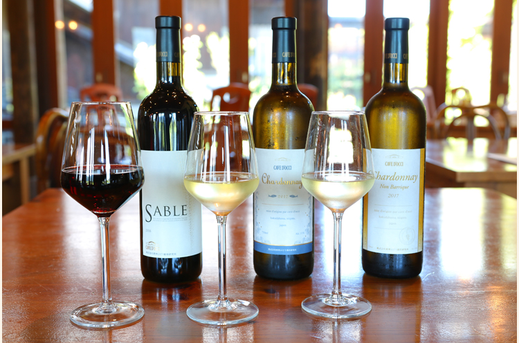 ランチに合う3 種のワインを少しずつ楽しめる『マリアージュ3』 (1,620 円)