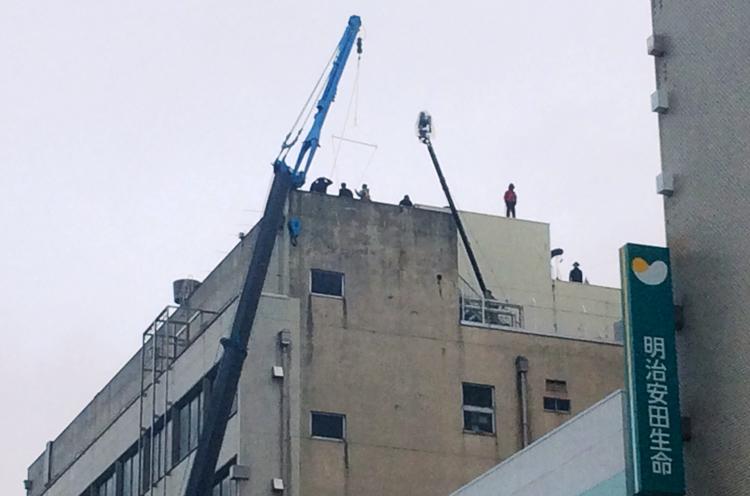 旧大和デパート屋上。写真を見て頂くとお分かりかと思いますが大規模な撮影が行なわれたんです