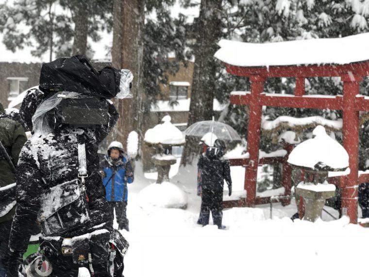 ある意味、大雪のおかげでいいシーンが撮れました