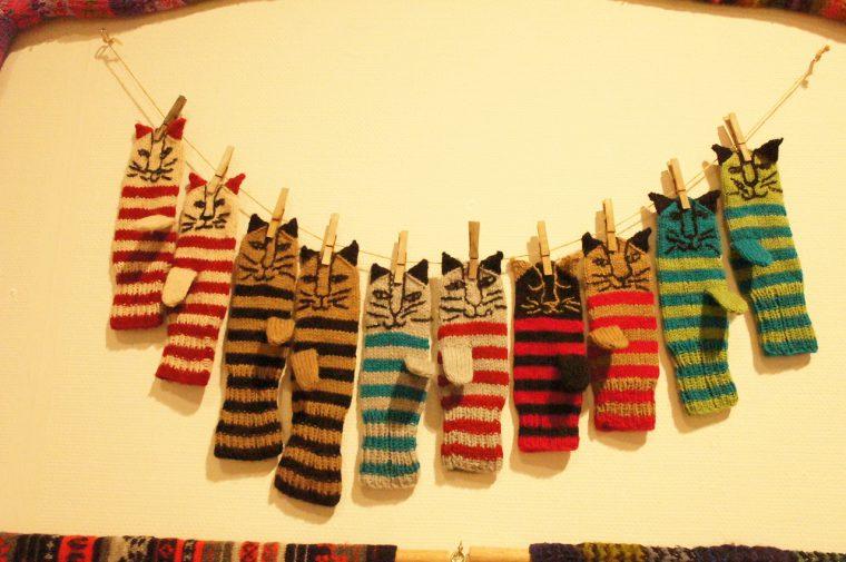 毛糸で作られたミトン。スウェーデンは編み物が盛んなエリアなんだそう!