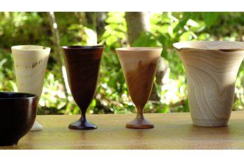 雑木の器・カトラリー・小木工品などを展示販売。温かみのある作品が並びます