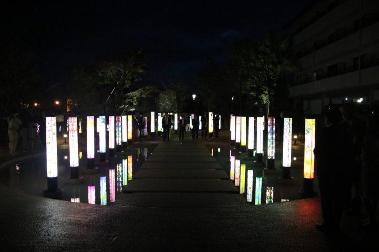 【新スポット】SNS映え! 月岡温泉に幻想的な「月あかりの庭」オープン