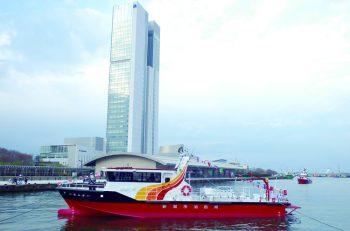 新デザインの「消防艇にほんかい」完成。就航式を開催!