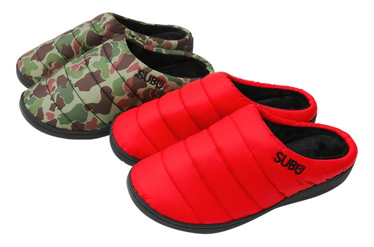 SUBU 『冬用サンダル』 ダウンのような暖かさと、インソールにこだわったスニーカーのような履き心地を両立。プレゼントにも最適な冬用サンダル 各3,672円