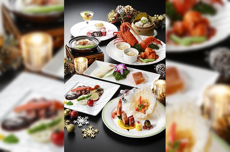 豪華料理7品が並ぶ『真珠』