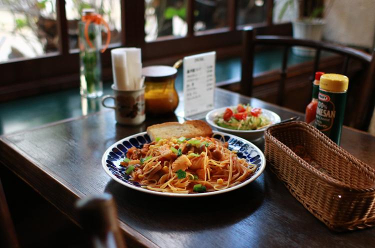 お昼のおすすめは『日替わりパスタランチ』(900 円)