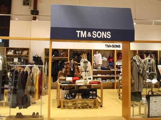 インポートを含むブランドアイテムがそろうShop in Shop「TM&SONS」