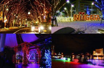 新潟市  冬のイルミネーション5選。キラキラ夜景を探しに行こう