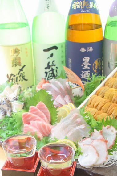 新鮮な魚介と一緒に利き酒師がセレクトした日本酒を楽しみたい