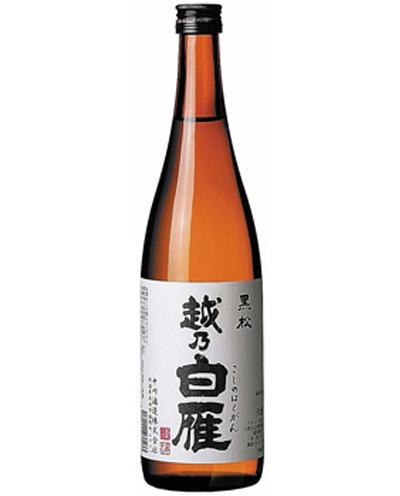 12_中川酒造 「越乃白雁 黒松」720ml720ml 3名様