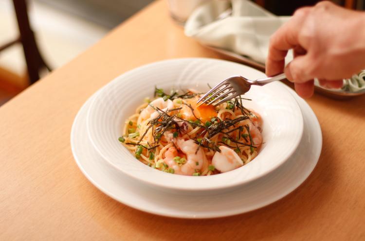 和風パスタの王道をモチモチの生麺で楽しもう!|新潟市万代