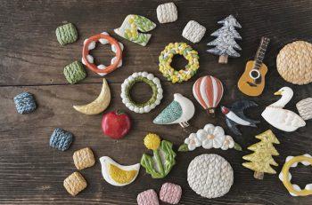 陶土で作った鳥や植物をモチーフにした雑貨・アクセサリーの作品展示販売会|水の駅「ビュー福島潟」1Fビューショップ