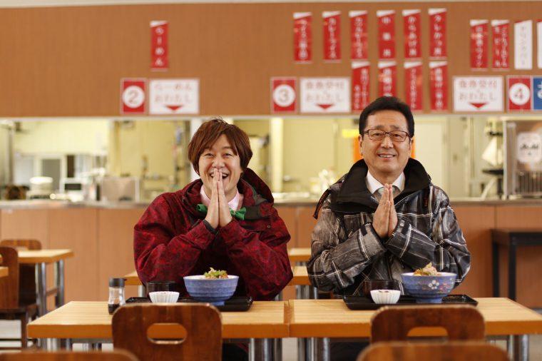 加藤村長と一緒においしくいただきました!