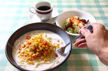 ホッとする家庭的な味のパスタランチ |新潟市関屋