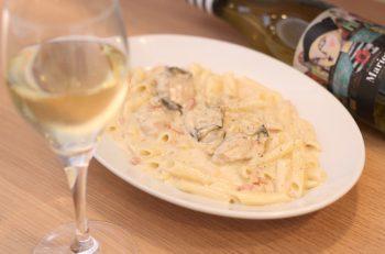 自慢の牡蠣を米粉パスタで味わおう! 牡蠣との相性が抜群のワインと一緒に 新潟駅南