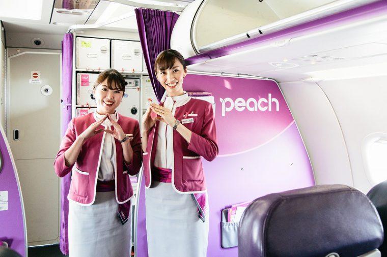 満員の機中では、素敵な客室乗務員さんたちがエスコートしてくれました!