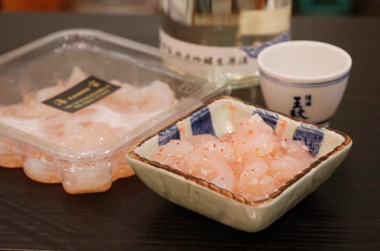 『甘えび塩辛』(1パック・110g 800円)
